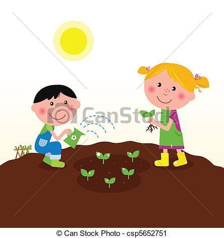 Boy clipart gardening Vector garden garden plants Art