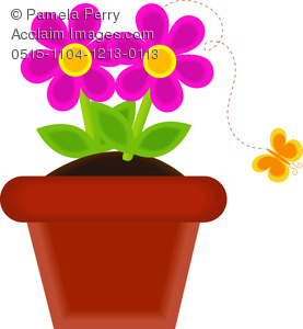 Petal clipart potted flower Of With of Clip Flower