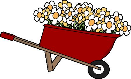 Garden clipart wheelbarrow Filled Flower Wheelbarrow Wheelbarrow with