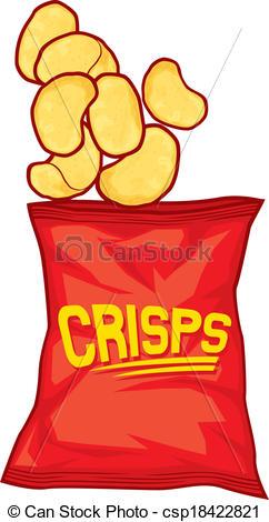 Potato Chips clipart Chips Vector bag bag potato