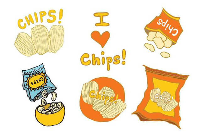 "Potato Chips clipart one  Chips: Can ""No Just"