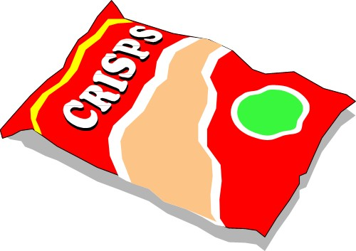 Potato Chips clipart packet crisp Food crisps; Packet crisps potato