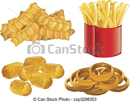 Potato Chips clipart tater Of Food csp3298353 Fast french
