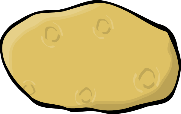 Potato clipart happy At image as: vector royalty