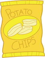 Potato Chips clipart one Potato And Chips  Dip