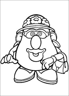 Potato clipart coloring Kids Fun Coloring Mr Head