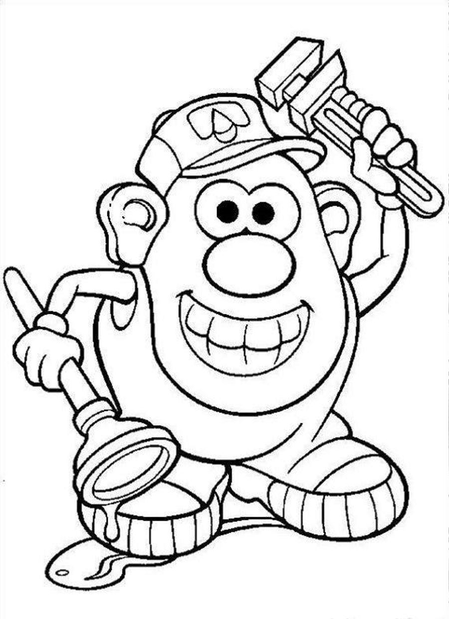 Potato clipart coloring To and Page for head