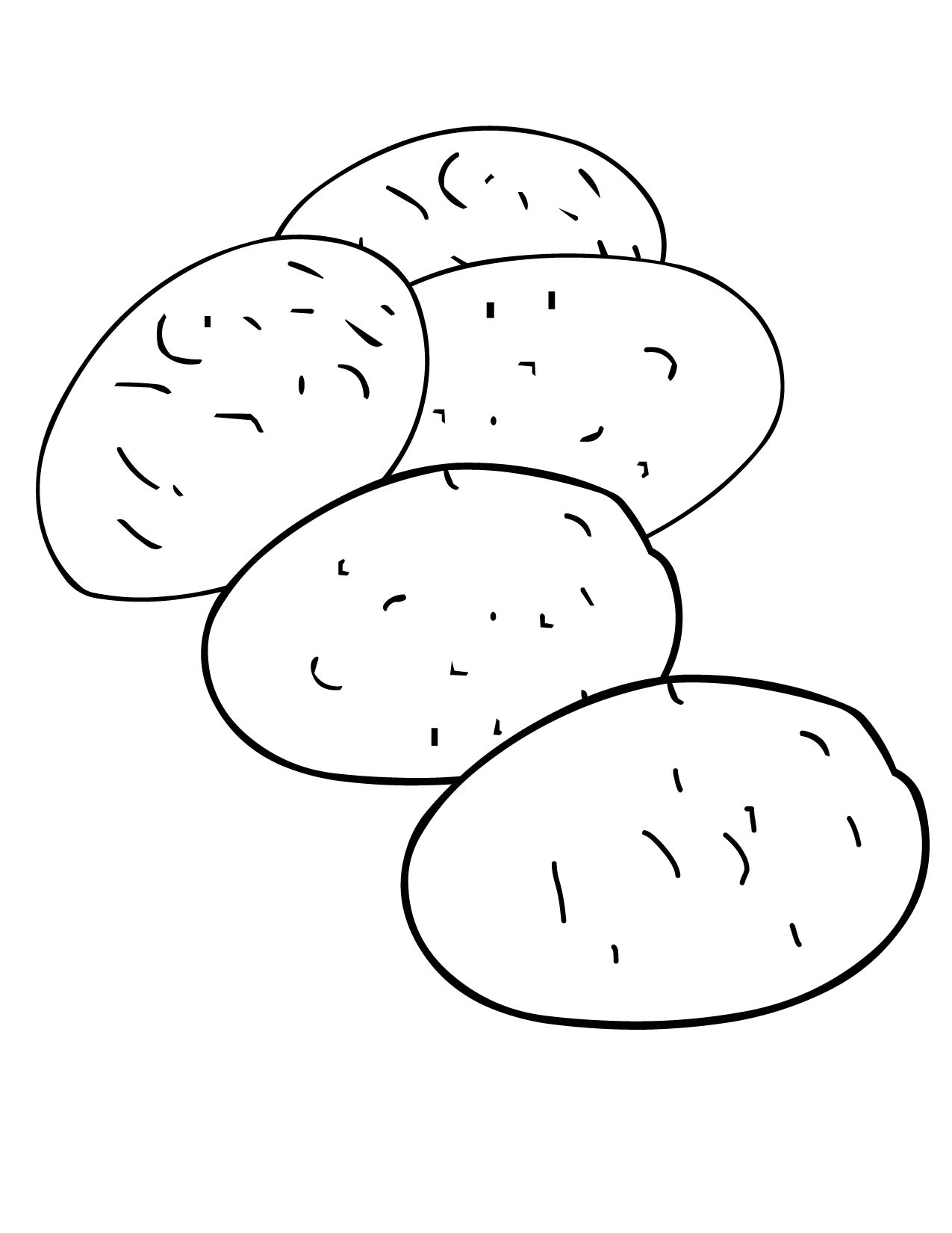 Potato clipart coloring Potato page Breadedcat potato Potato