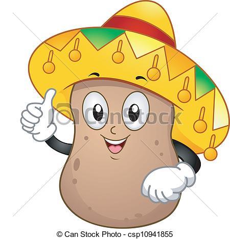 Potato clipart logo Mascot  Vector Potato Clipart