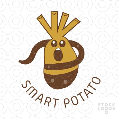 Potato clipart logo Customizable Logo fried fries Sale: