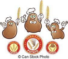 Potato clipart twist Art of potato potato illustration