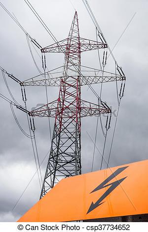 Power Line clipart  a asten current line