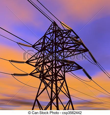 Power Line clipart Power voltage High csp3562442 Clip