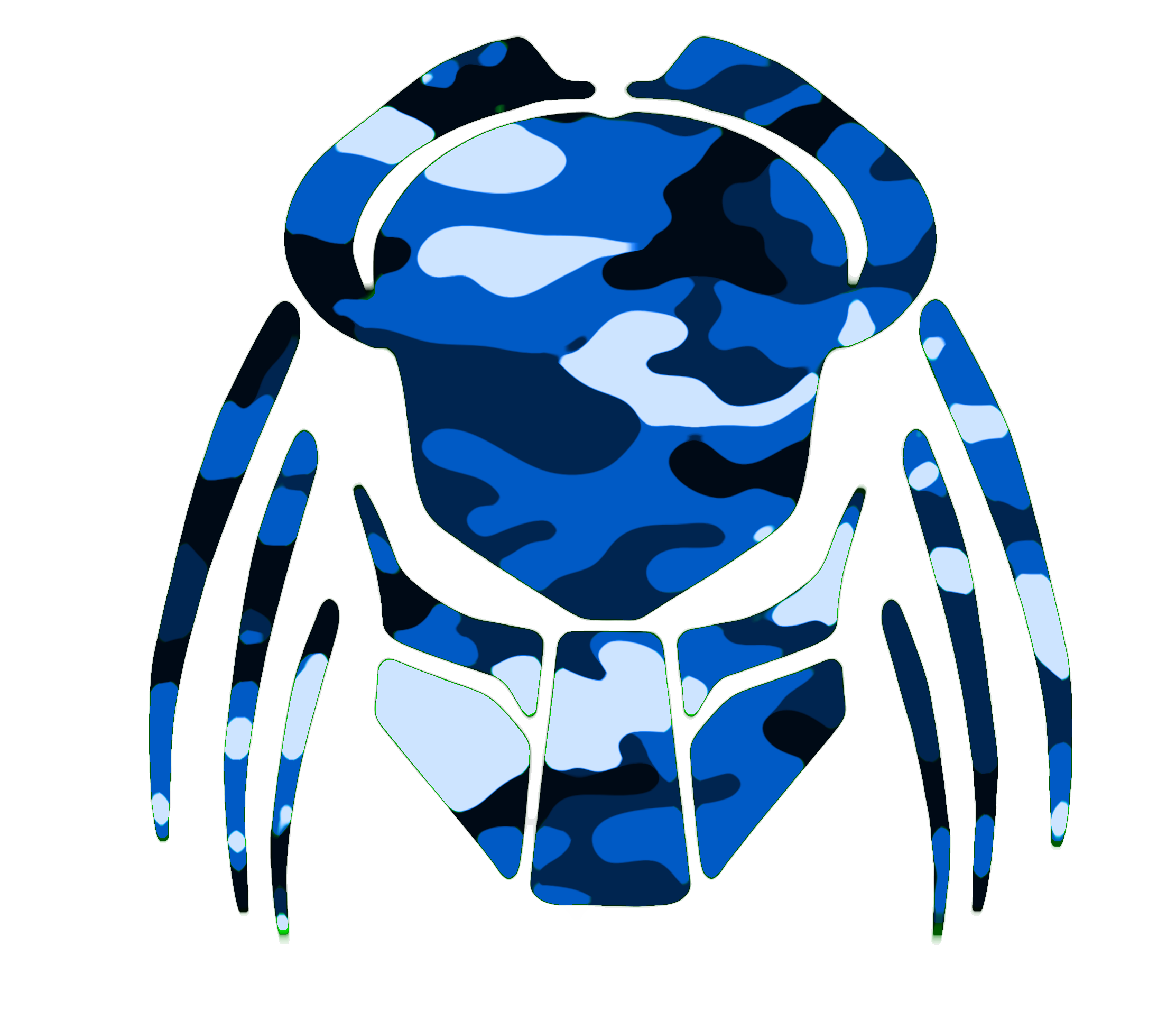 Predator clipart Free Cybergoth  Clker Camouflage