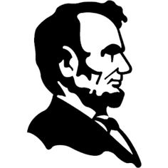 Us History clipart lincoln In silhouette Lincoln Silhouette Abraham
