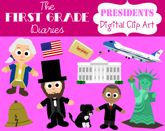 Statue Of Liberty clipart cute First Grade Diaries: Presidents Art