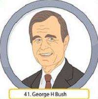 Presidents clipart george bush President W H W Bush