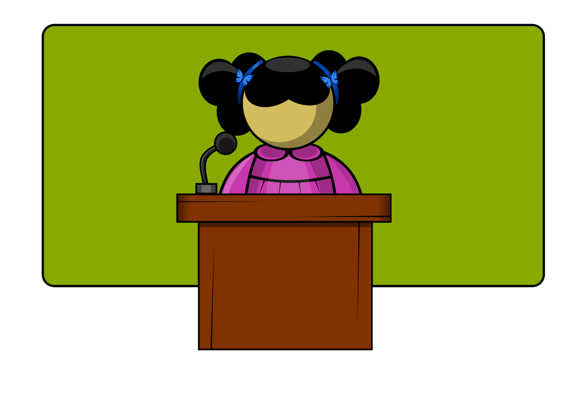 Women clipart public speaking #1