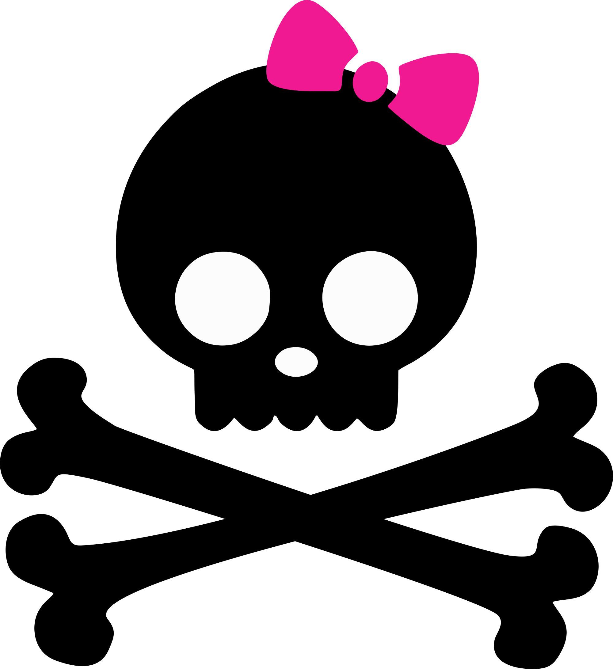 Bones clipart pink Art Skull On Skulls Clip