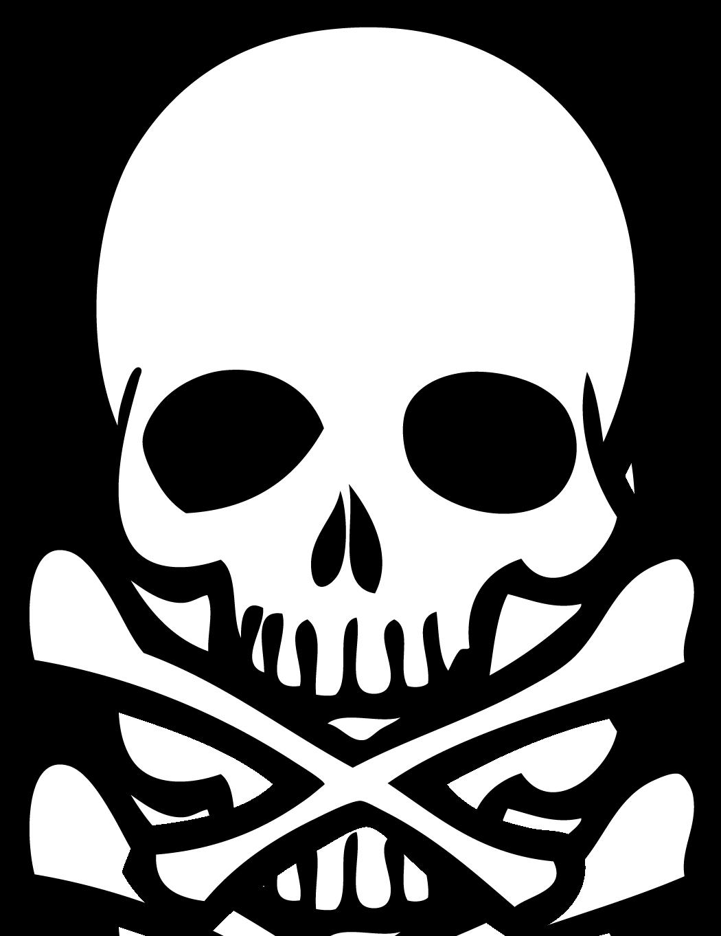 Sketch clipart skull and crossbones Skull and  Simple crossbones