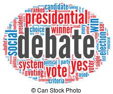 Presidents clipart the word Presidential president debate Stock concept
