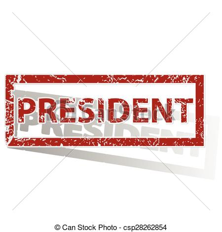 Presidents clipart the word Outlined stamp stamp Clipart csp28262854