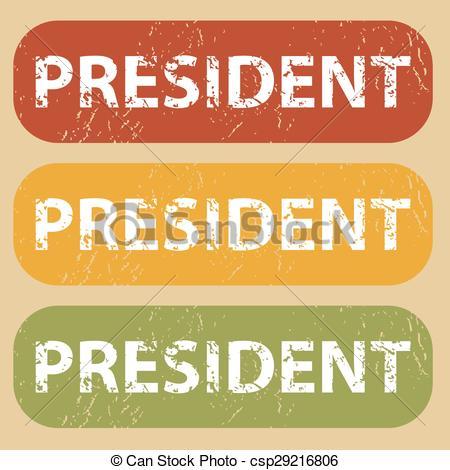 Presidents clipart the word Vintage PRESIDENT PRESIDENT set stamp