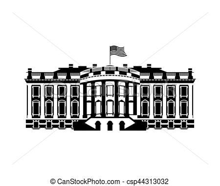 White House clipart goverment House landmark USA America building