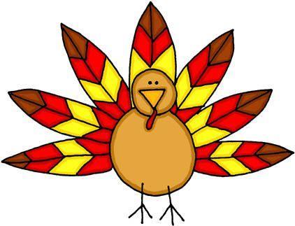Turkey clipart colored #2