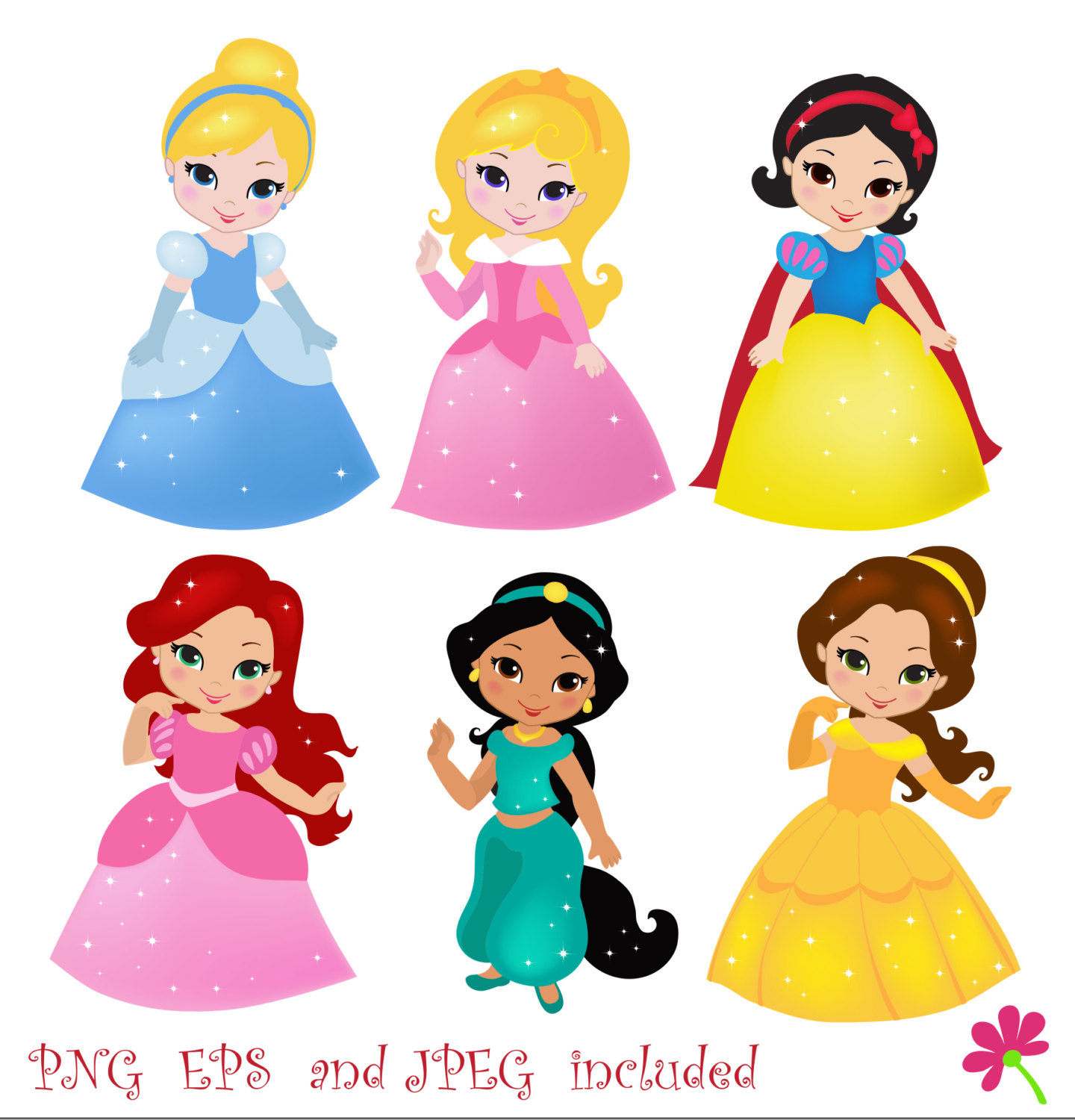 Beautiful clipart cute princess Art  Clipart Digital Clip