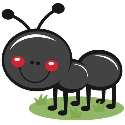 Ant clipart cute Ant for scrapbook Grass silhouette