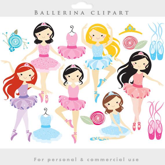 Blue clipart ballerina Etsy clip clipart dancing ballerina