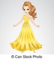 Princess clipart beauty Beauty EPS of Dress