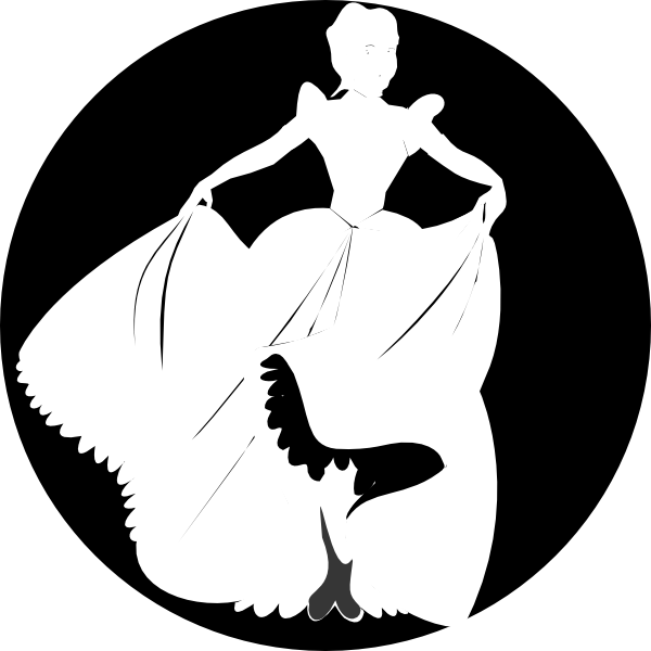 Shaow clipart cinderella Black at In Art White