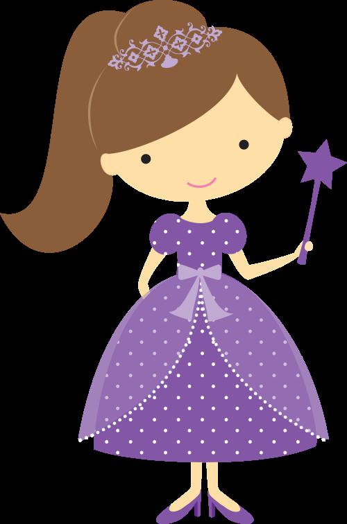 Doll clipart purple #4