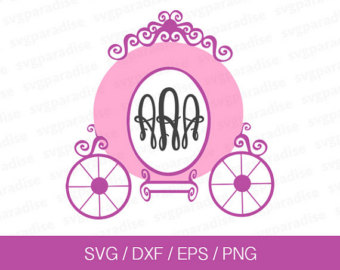 Carriage clipart frame Etsy carriage Carriage Monogram Frame