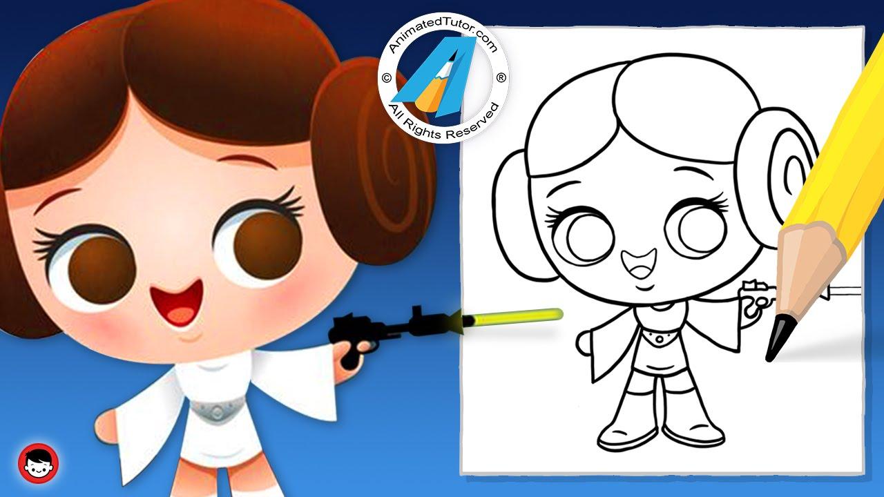 Star Wars clipart easy Star Cute Chibi Draw Princess