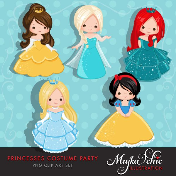 Princess clipart gambar Party This set costume Every