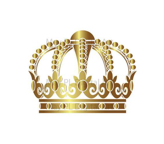 Princess clipart gold Gold crown art Tiara crowns