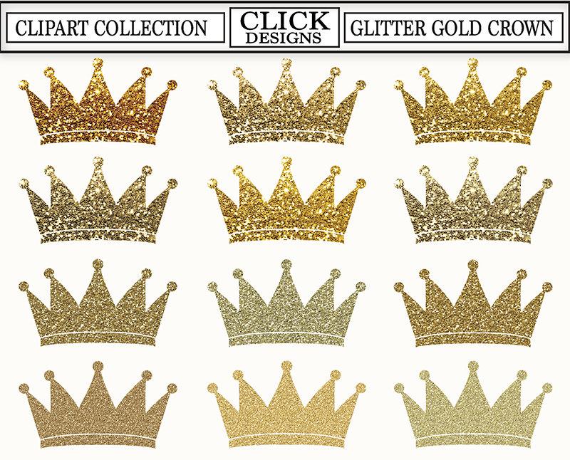 Princess clipart gold GLITTER Crown Glitter CROWN GOLD