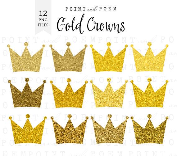 Princess clipart gold Glitter  scrapbooking clip crowns