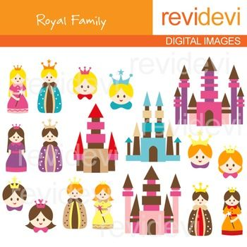 Princess clipart king and queen #7