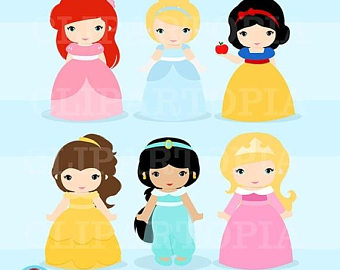 Cart clipart princess Princess clip lady Etsy collection
