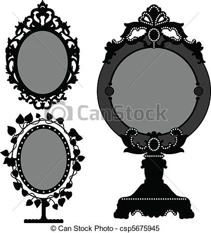 Mirror clipart victorian #2