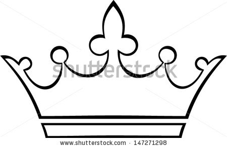 Princess clipart outline Collection outline Simple crown Crown