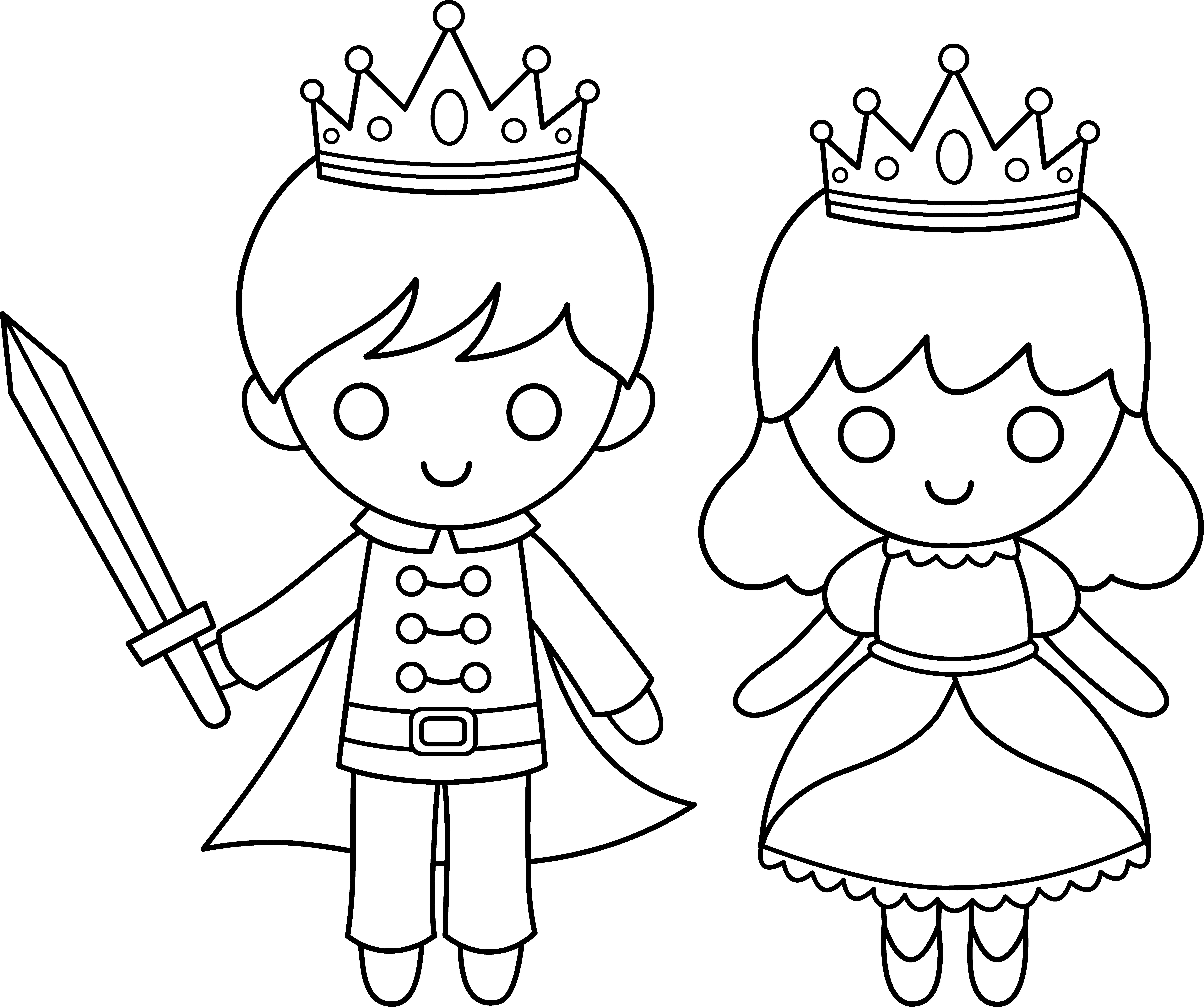 Princess clipart outline Art Free Princess Art Prince