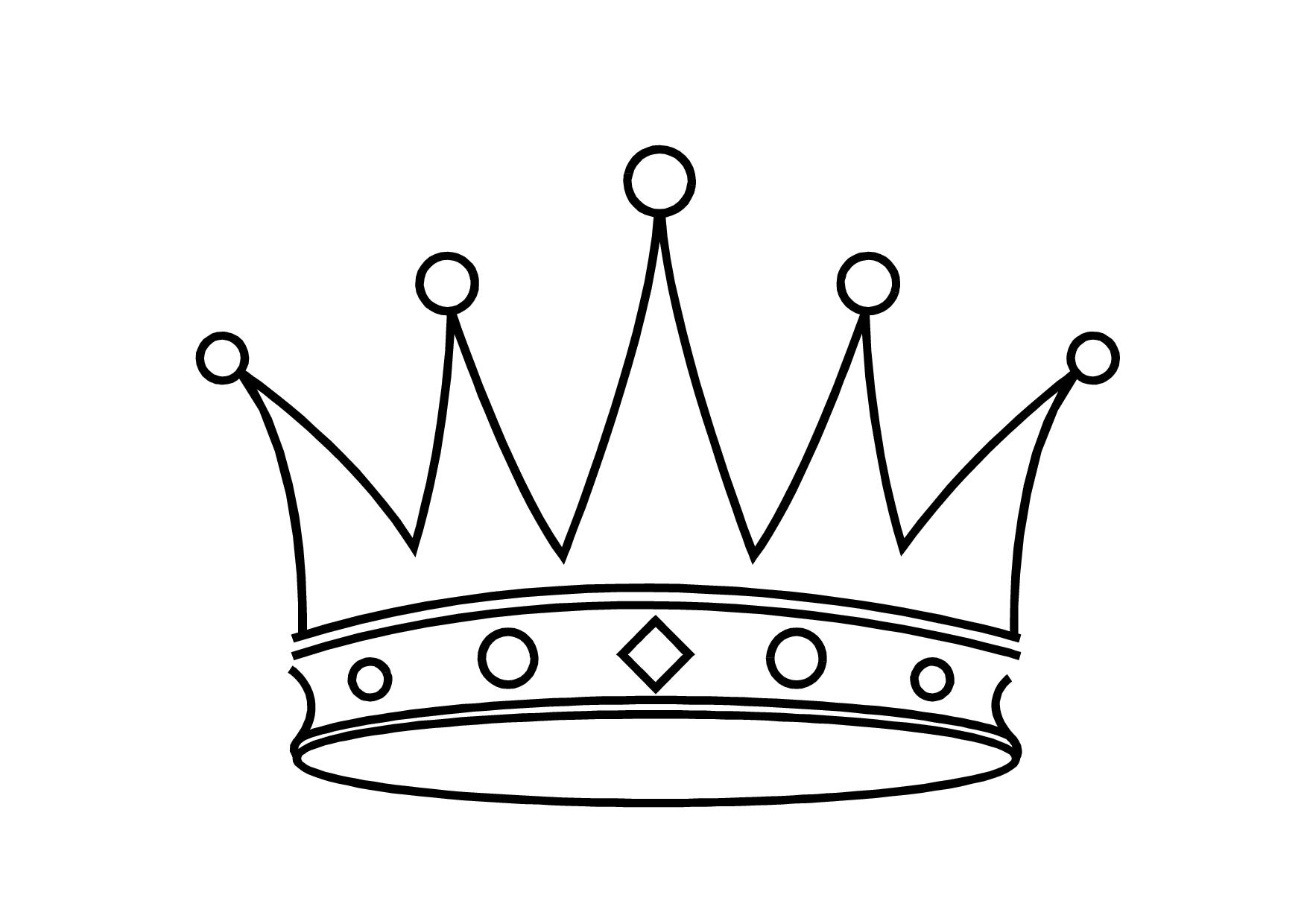 Princess clipart outline Collection outline Crown crown black