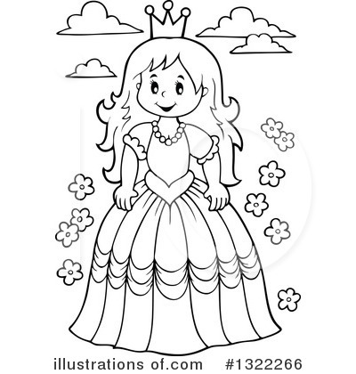 Princess clipart outline Princess visekart Clipart by by