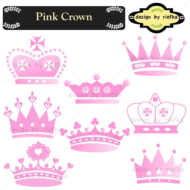 Crown clipart pink crown ClipartMonk Pink princess crown Free