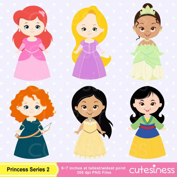 Beautiful clipart cute princess Digital Clipart Princess Pinterest images